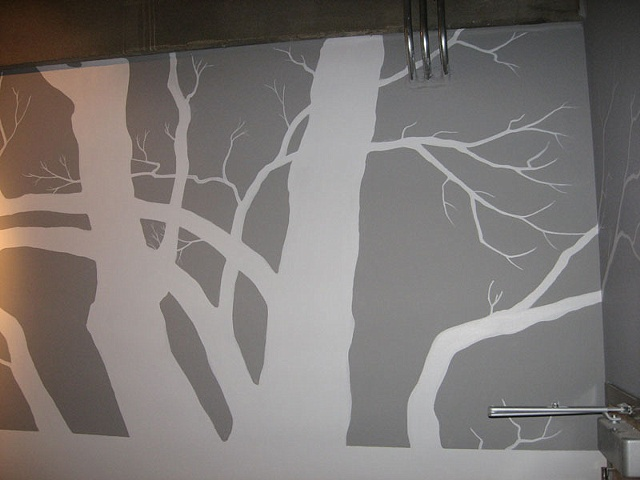 Detail loft hallway 'negative' tree.