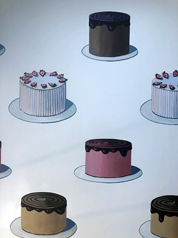 Close up of Cake Wall