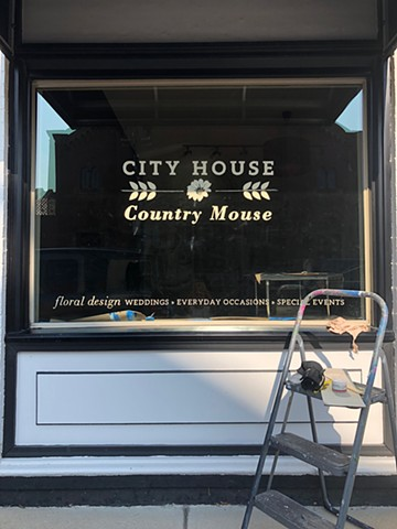 City House Country Mouse, hand lettering, One-Shot oil