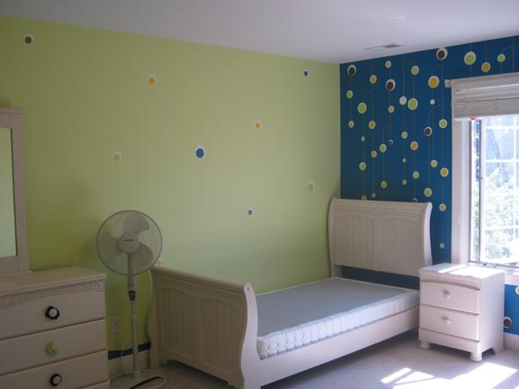 children bedroom floating balls paint by the design deli