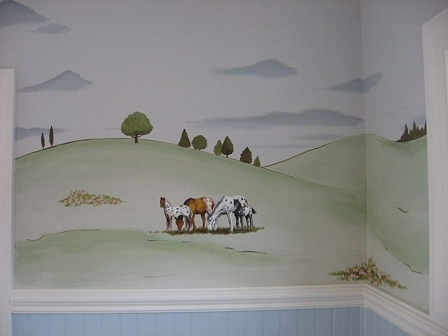 horse landscape paint by the design deli