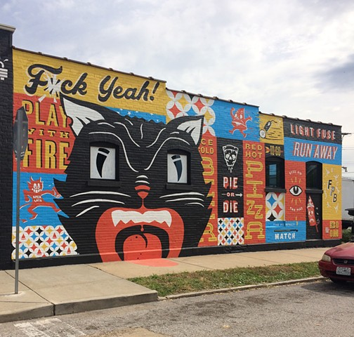 FireCracker Pizza Mural