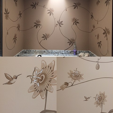 Bathroom Flower Mural