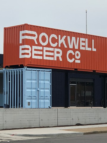 Rockwell Beer Co. shipping containers, latex