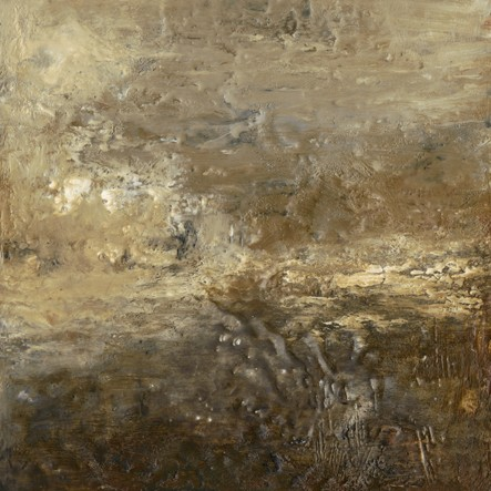 Landscape, abstract, textural, grays, browns, rich