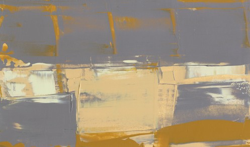 Abstract, cream, soft yellow, gray and soft cinnamon