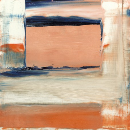 Abstract, Orange, blue and white