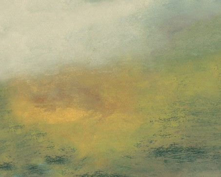 Landscape, abstract, quiet, soothing, muted, pastel, green