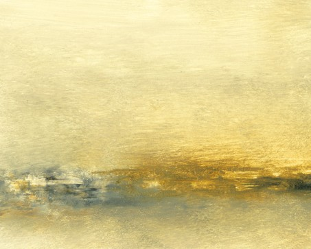 Landscape, abstract, subtle, soft golden yellow, brown, gray blue