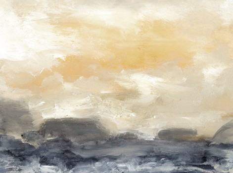 Water, abstract, soft gold, gray beach house, white, serene, watercolor