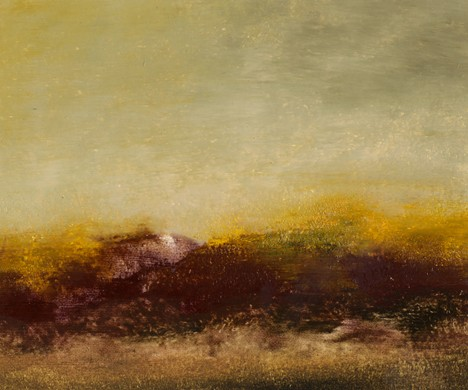 Landscape, abstract, rich, gold, plum, yellow, warm