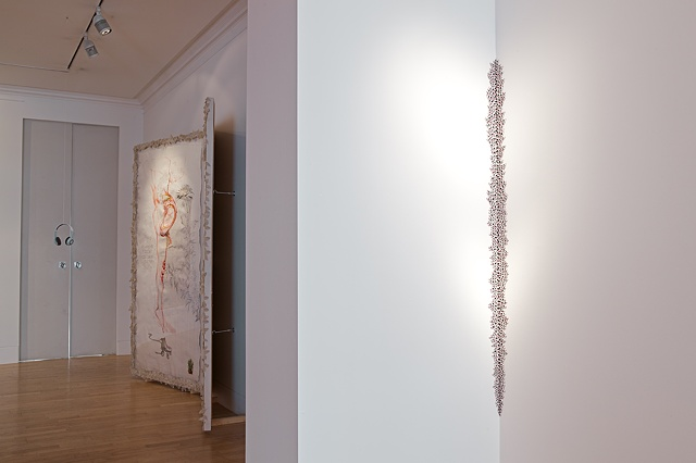 Installation images from Stargazing at Rossi and Rossi in June 2012, London UK