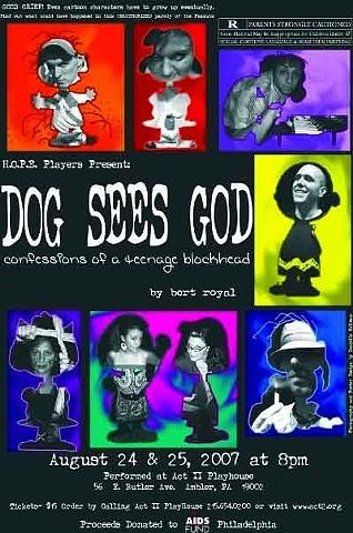 """""""Dog Sees God"""" Poster"""
