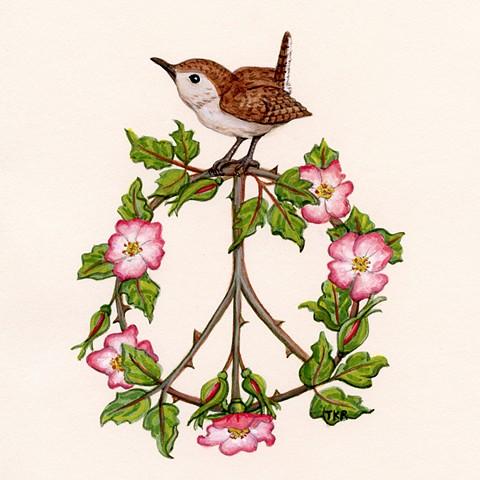wren peace sign