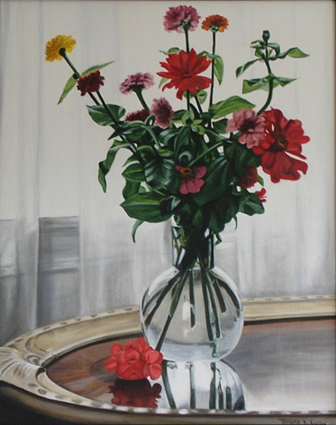 Still Life with Zinnias - Study II