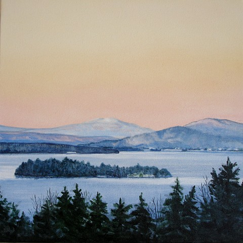 rangeley lake painting print