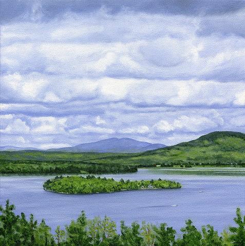 archival art print of Rangeley Leke, Maine
