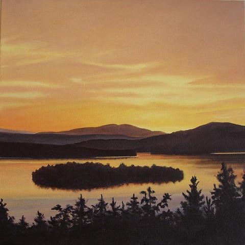 rangeley lake september print