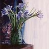 Siberian Irises in a Green Vase