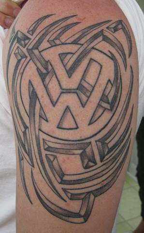 VW with tribal