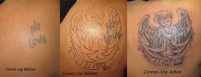 cover up with angel