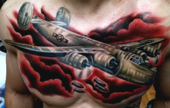 Warplane Tattoo Best Tattoo Awesome Color Best Color