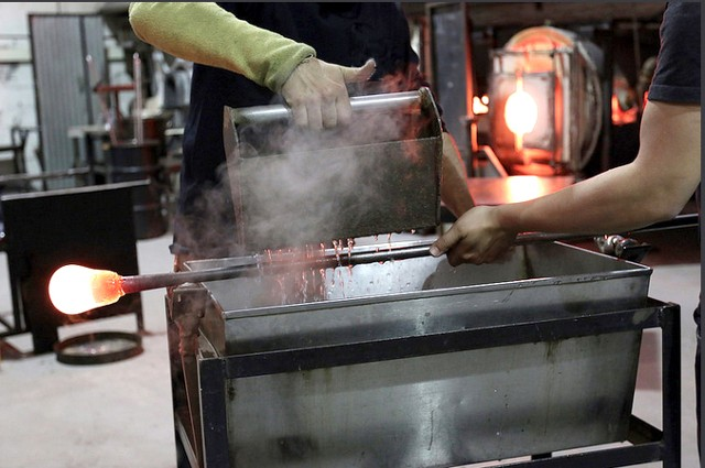 Gathering Molten Glass