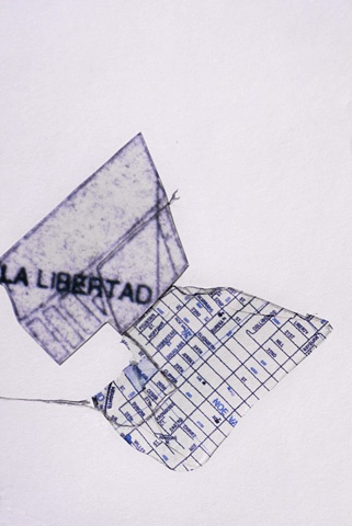 Mapping Translation series -clothes line- (detail)