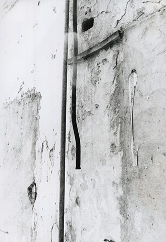 Black and white photo of water pipe in Bogota