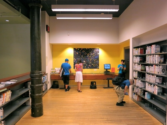 Artwork installed at the New York Public Library Mulberry Street Branch, 2012, photo credit Yulia Tikhonova