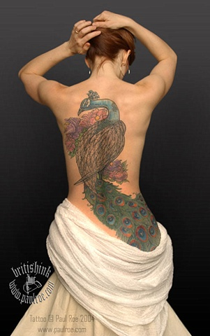 Peacock Back Piece