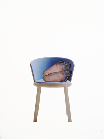 brian zimmerman, bryan zimmerman, art, artist, collage, frostbite, feet, chair