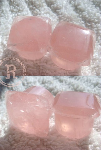 "11/16"" Rose Quartz Facets"