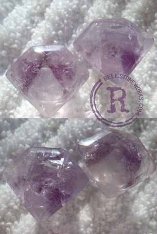 Amethyst Diamond Cut Single Flares