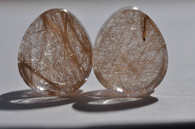 "1/2"" Golden Rutilated Quartz Teardrops"