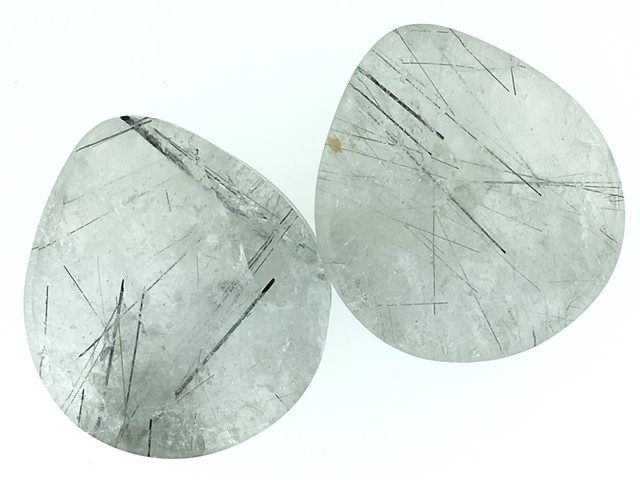 "1 3/4"" Tourmalated Quartz Teardrops"