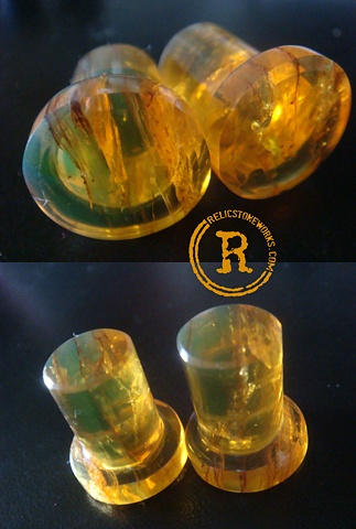 "1/2"" Green Amber Conches"