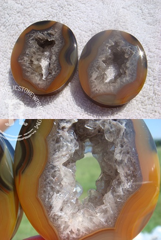 "1 5/8"" Condor Agate Geode Eyelets"