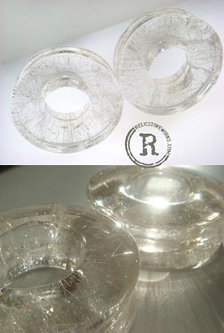 "1 1/2"" Rutilated Quartz Eyelets"