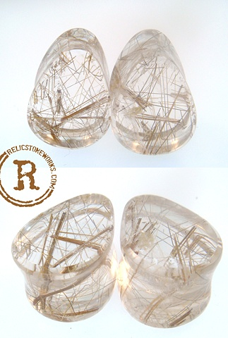 "5/8"" Rutilated Quartz Teardrops"