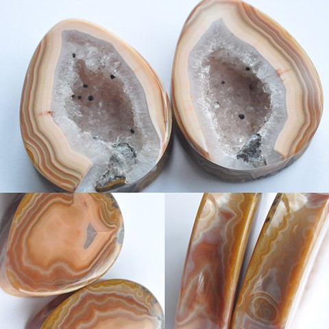 "1 1/2"" Fighting Blood Agate Geodes"