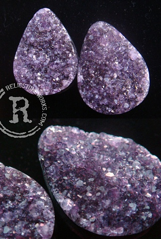 "1 1/2"" Rough Amethyst Teardrops"