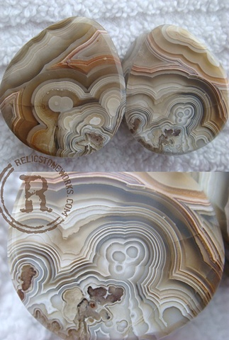 Crazy Lace Agate Teardrops