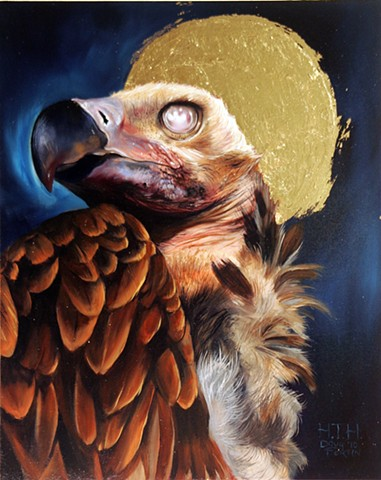 painting of vulture by doug fortin