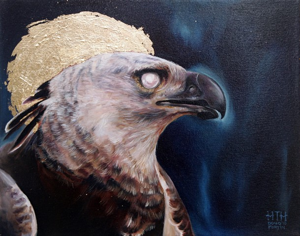 painting of hawk by doug fortin