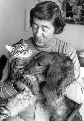 Photographer Rollie McKenna with her pets