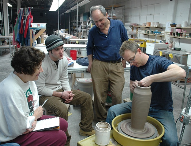 Potter Ben Clark at Funke's Fired Arts