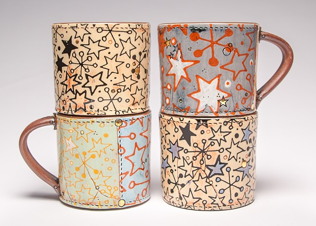 Retro Star Mugs