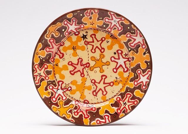 Sheriff Stars Dessert Plate