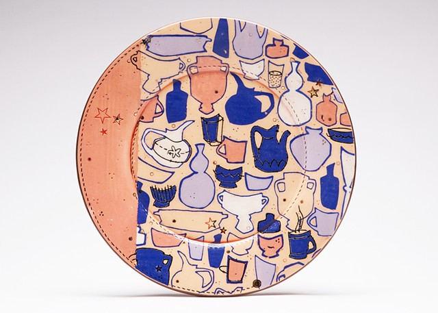 Pottery Collection Large Dinner Plate